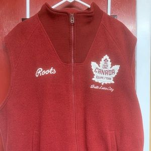 Official Roots Winter Games 02 Canada Warm Up Vest